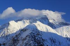 Panorama av Hilsen, Les Deux Alpes, Frankrike, franska Arkivbilder