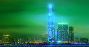 Panorama av Hong Kong och det finansiella området Royaltyfri Fotografi