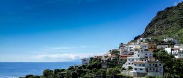 Panorama- av Igueste de San Andrés, på ön av Tenerife arkivbild