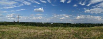 Panorama av industriområden Kiev Ukraina poland royaltyfria foton