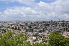 Panorama av Jerusalem Arkivbilder