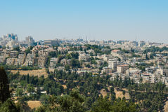 Panorama av Jerusalem, Israel Royaltyfri Fotografi