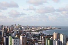 Panorama av Joao Pessoa i Brasilien Royaltyfri Fotografi