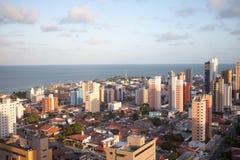 Panorama av Joao Pessoa i Brasilien Arkivfoton