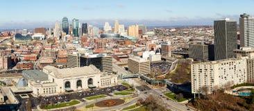 Panorama- av Kansas City Fotografering för Bildbyråer