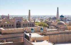 Panorama av Khiva arkivbilder