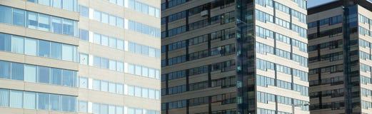 Panorama av kontorsbyggnader Royaltyfria Bilder