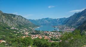 Panorama av Kotor Fotografering för Bildbyråer