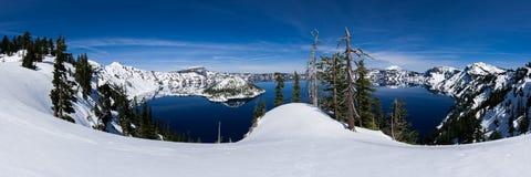 Panorama- av krater sjön Royaltyfri Foto