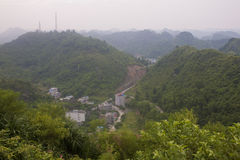 Panorama av kullar på den Cat Ba ön Royaltyfri Fotografi