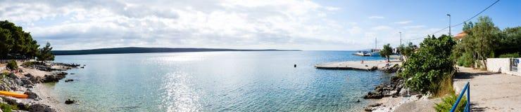 Panorama av kusten, Kroatien Arkivfoto