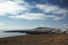 Panorama av kustlinjen Royaltyfria Foton