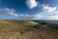 Panorama av kustlinjen Arkivbilder