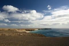 Panorama av kustlinjen Royaltyfria Bilder