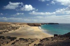 Panorama av kustlinjen Arkivfoto