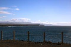 Panorama av kustlinjen Arkivbild