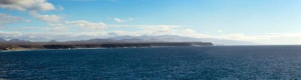 Panorama av kustlinjen Fotografering för Bildbyråer