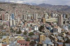 Panorama av La Paz Arkivbild