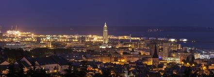 Panorama av Le Havre Arkivbilder
