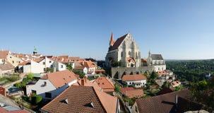 Panorama av lilla staden Royaltyfri Fotografi