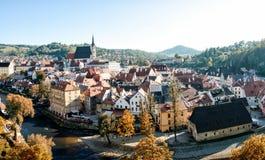 Panorama av lilla staden Arkivbild
