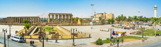 Panorama av Luxor Fotografering för Bildbyråer