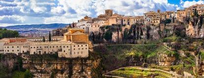 Panorama av mäktiga Cuenca Arkivfoton