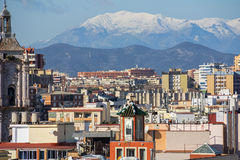 Panorama av Malaga Arkivfoton