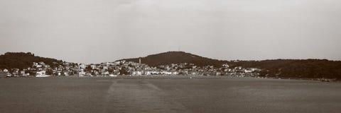 Panorama av Mali Losinj arkivbild