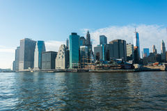 Panorama av manhattan Royaltyfri Foto