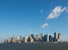 Panorama av manhattan Royaltyfria Bilder