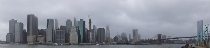 Panorama av Manhattan New York City USA Royaltyfria Bilder