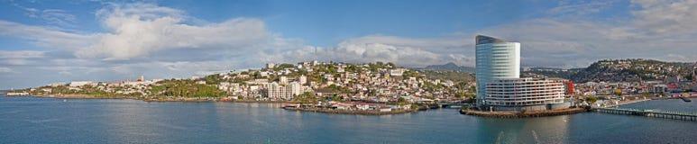 Panorama av Martinque arkivbilder