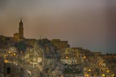 Panorama av Matera Royaltyfria Foton