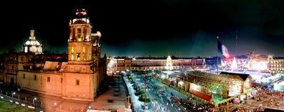 Panorama- av Mexico - stad Arkivfoton
