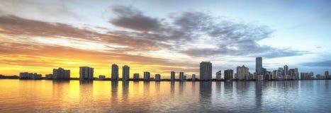 Panorama av Miami Arkivfoto