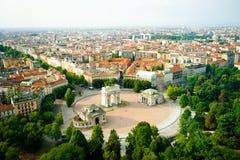 Panorama av Milan Royaltyfri Foto