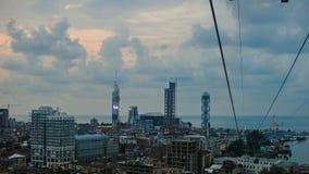 Panorama av mitten av Batumi Arkivfoto