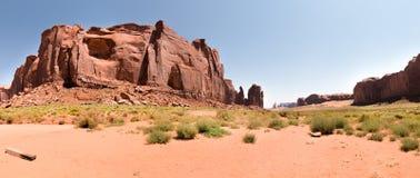 Panorama- av monumentdalen, Utah, USA Arkivbild