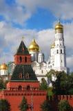 Panorama av Moscow Kremlin kyrkor. Fotografering för Bildbyråer