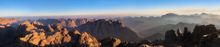 Panorama av Mount Sinai arkivbilder