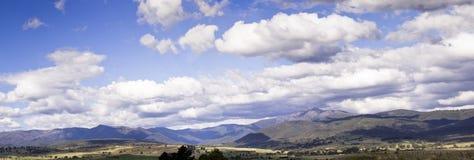 Panorama av Mt Buler, Victoria, Australien Arkivfoto