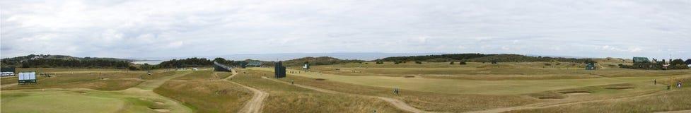 Panorama av Muirfield för den öppna britten 2013 Arkivfoto