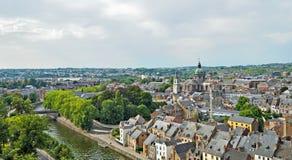 Panorama av Namur, Belgien Arkivfoton