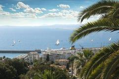 Panorama av Nice Arkivfoto