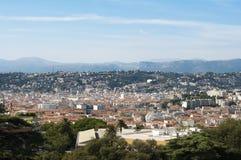Panorama av Nice Arkivbild