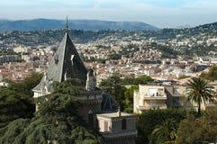 Panorama av Nice Royaltyfri Fotografi