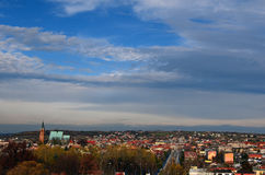 Panorama av Olkusz (Polen) Royaltyfri Fotografi