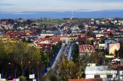 Panorama av Olkusz Polen Fotografering för Bildbyråer