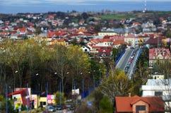 Panorama av Olkusz Polen Royaltyfri Foto
